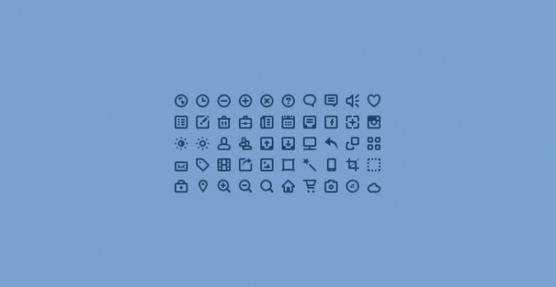 Mini icons  psd