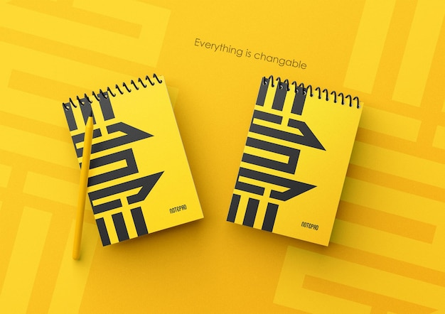 Mini notepad mockup