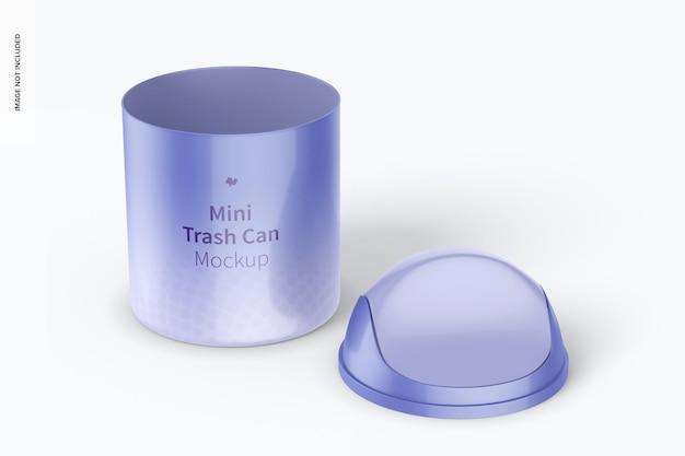 Mini trash can mockup