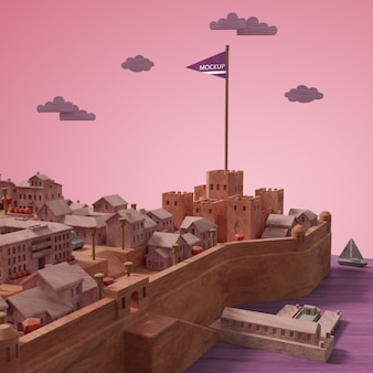 도시의 미니어처 모델