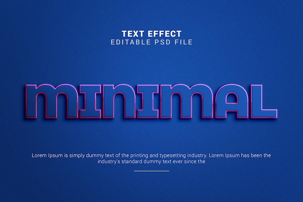 Minimal 3d editable text effect