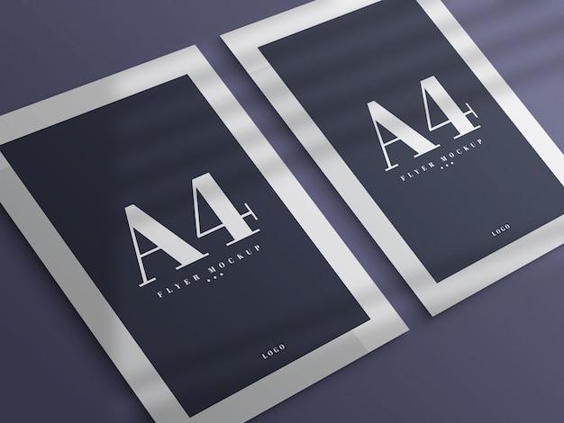 최소 a4 전단지 모형 디자인