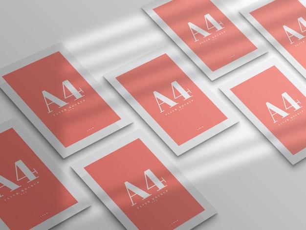 Design minimal mockup flyer a4