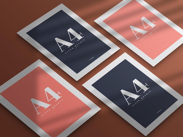 Минимальный дизайн макета флаера формата а4