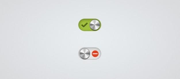 Минимальным и металлические кнопки активации