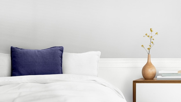 Минималистичный интерьер спальни psd