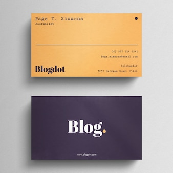 Minimal Blogger Business Card
