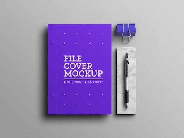 Minimal blue a4 document mockup