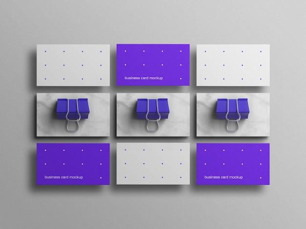 Минимальный синий макет визитки