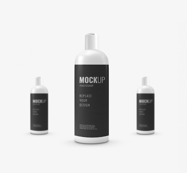 Minimal bottle bath cream mockup
