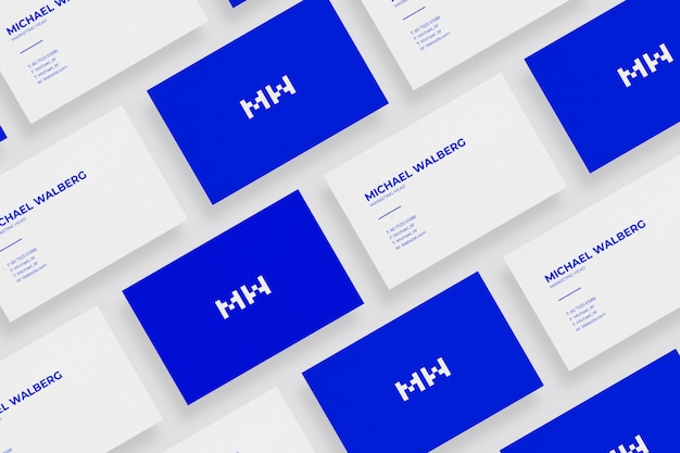 Minimal business card mockup design for branding and visual identity graphic design projects