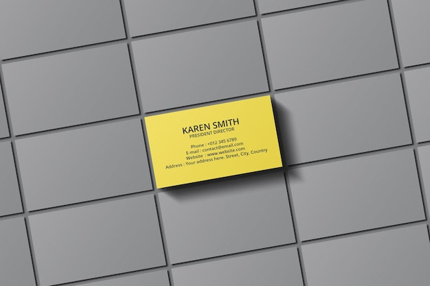 Minimal business card mockup design