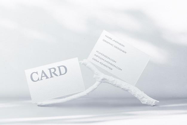 Создатель сцены минимального макета визитки