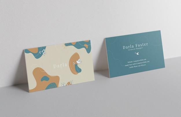 Minimal business card mockup on white background