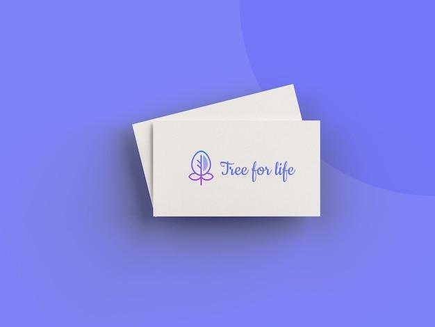 Минимальный макет визитки