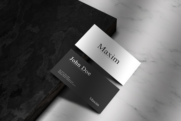 Minimal business card mockup