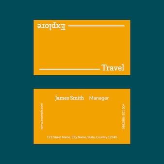Modello di biglietto da visita minimo foto psd allegabile per agenzia di viaggi