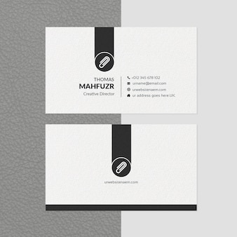 Minimal business card template white & black