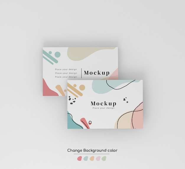 Minimal business overlaying visiting card mockup