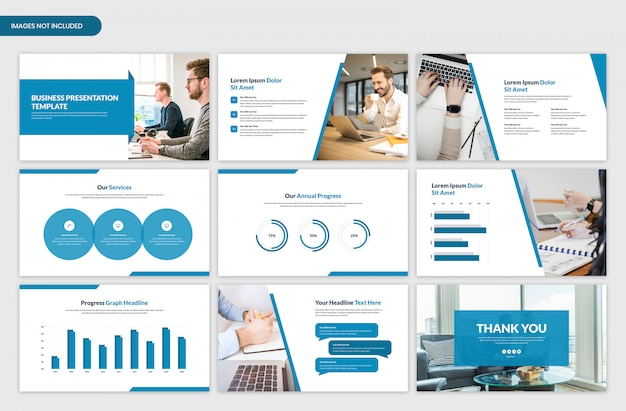 Minimal business presentation slider template design