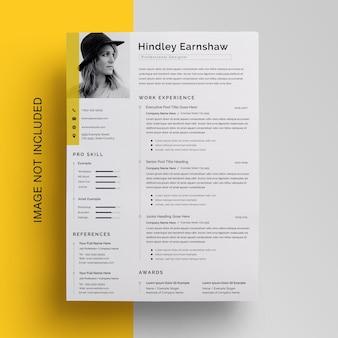 最小限のビジネス履歴書テンプレートデザイン