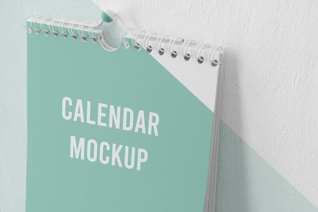 Минимальная композиция макета календаря