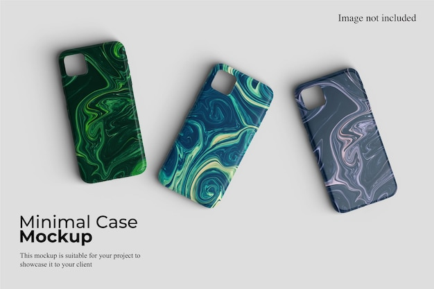 Minimal case smartphone mockup design isolated