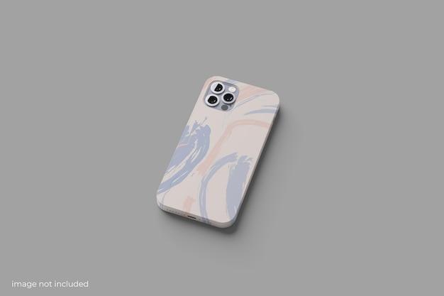 最小限のケースのスマートフォンのモックアップ