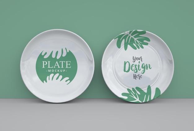 Minimal ceramic plate mockup