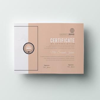 Minimal certificate
