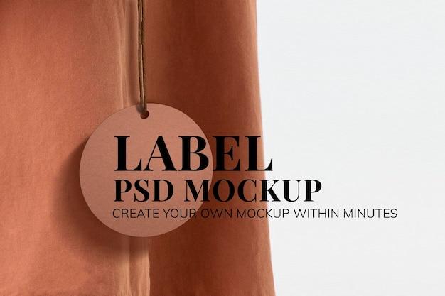 Minimal clothing label mockup psd for fashion brands