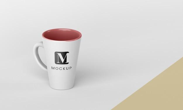 Minimal coffee mug arrangement with copy space