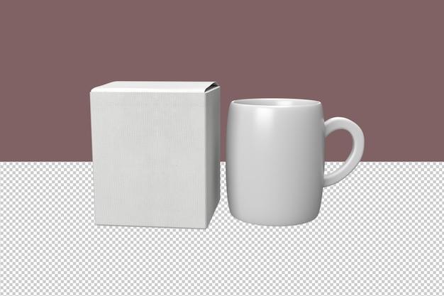 ボックス付きの最小限のコーヒーマグ