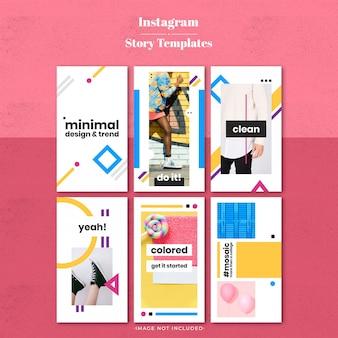 Minimal color instragram story template