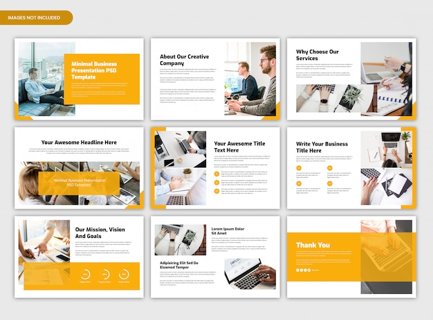 Minimal corporate business presentation and startup project overview  template