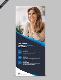 Minimal corporate business rollup banner template