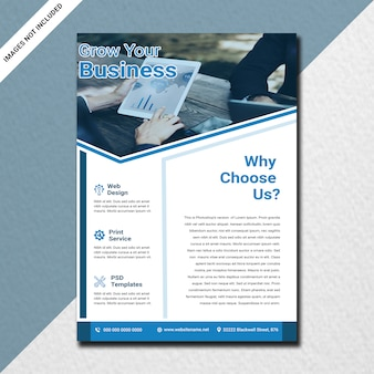 Minimal corporate flyer design