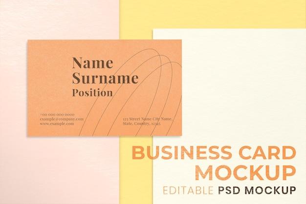 Минимальный макет фирменного стиля psd набор канцелярских принадлежностей для брендинга