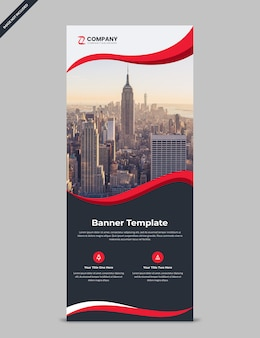 Minimal corporate rollup banner template