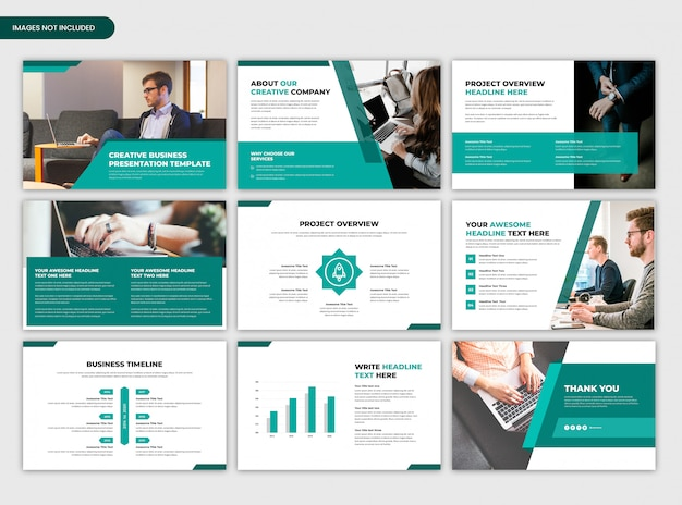 Minimal creative startup and business presentation template
