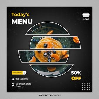 Minimal culinary social media post banner