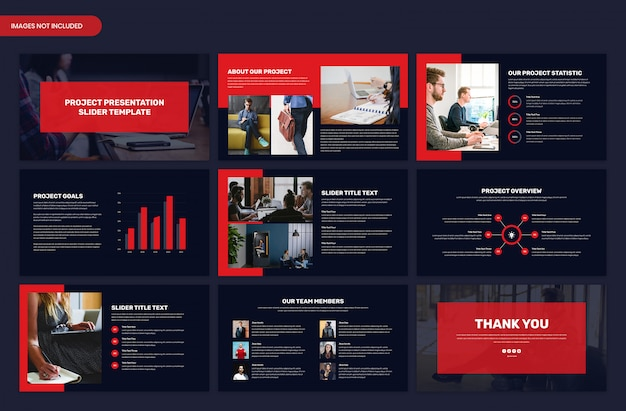 Minimal dark slides presentation template