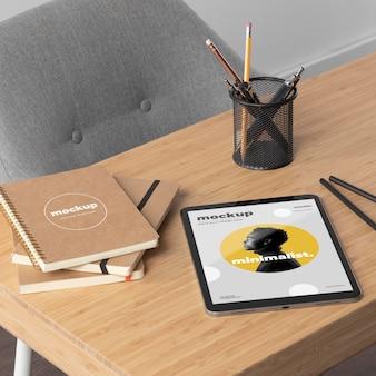 Minimal desktop workspace mock-up design