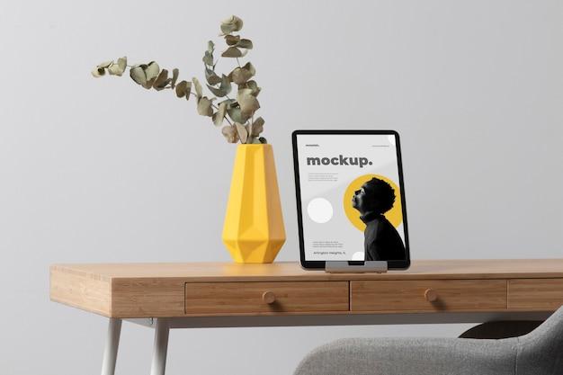 Минималистичный дизайн макета рабочего стола рабочего стола