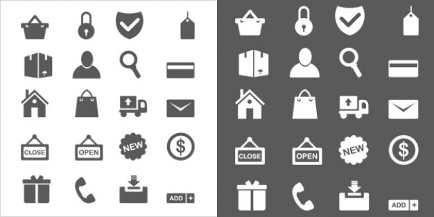 Minimal ecommerce icons  vector psd