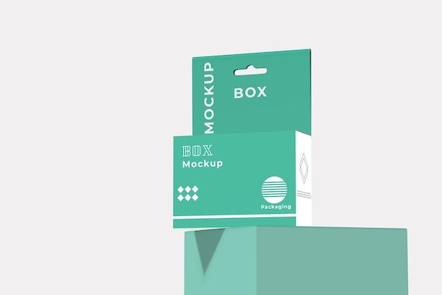 최소한의 우아한 상자 포장 모형