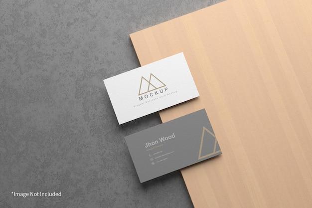 Минимальный элегантный макет визитной карточки