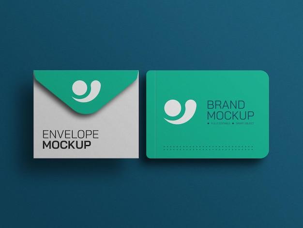Minimal envelope with diary stationery set mockup