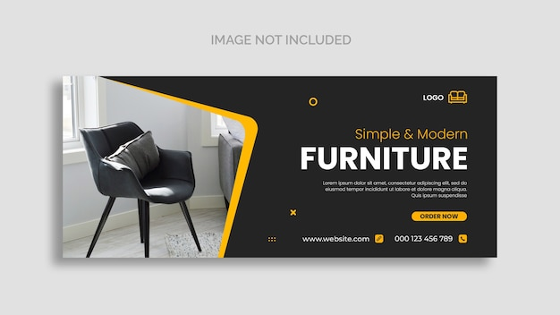 Minimal furniture facebook cover page template