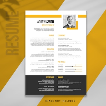 Minimal graphic designer resume template